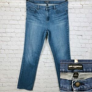 KARL LAGERFELD Medium Wash Slim Fit Jeans 16